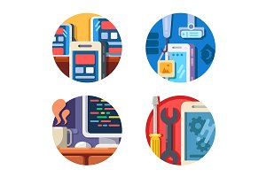Programming mobile application icons