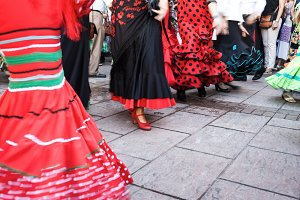 Woman dancing flamenco in Andalucia