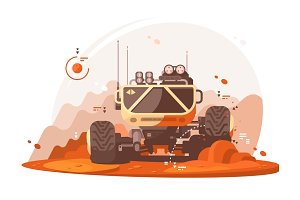 Mars rover for scientific research
