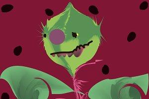 Melon Head Monster