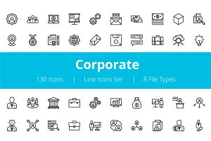 125+ Corporate Line Icons