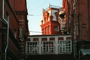 Moscow, Russia - November 17, 2016: Krasny Oktyabr (Red October). An island of art, fun and culture with a twist of Moscow glamour.