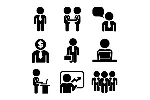 Business and Office People Icon