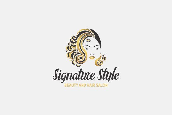 beauty hair logo logo templates creative market