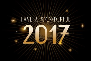happy new year 2017 template vector
