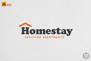 Homestay Real Estate Logo Template