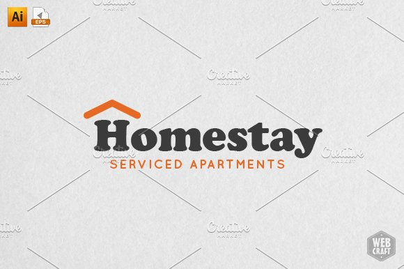 Homestay Real Estate Logo Template ~ Logo Templates