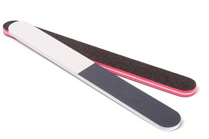 two nail file isolated on a white background