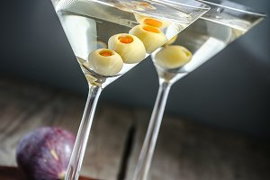 Two martini cocktails
