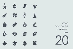 Christmas tree's toys icons