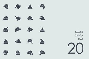 Santa hat icons