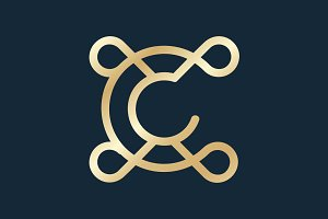 Luxury Letter C logo