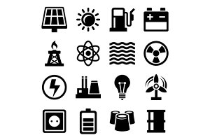 Electricity Energy and Power Icons