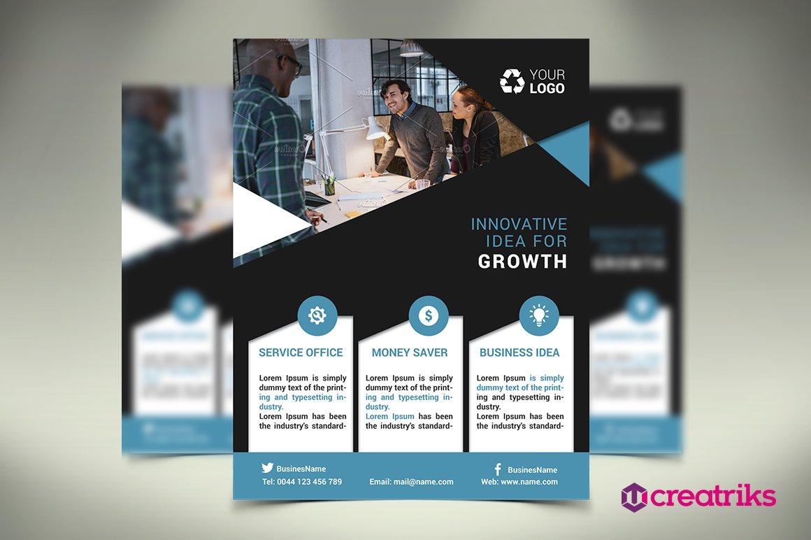 business flyer flyer templates creative market