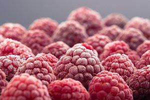 Frozen raspberryes
