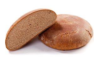 Healthy sliced brown rye bread
