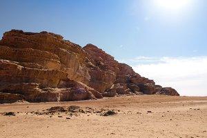 Jordanian desert in Wadi Rum