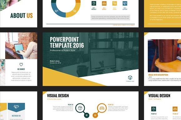 modern powerpoint template presentation templates creative market