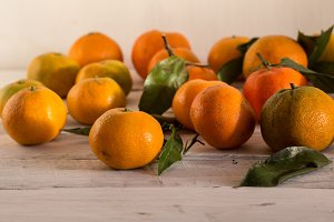ripe tangerines