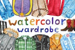 Watercolor wardrobe
