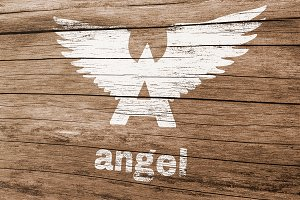 Angel Logo Template
