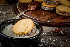 Mexican cookies alfajores