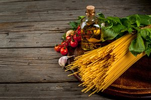 Ingredients for making pasta