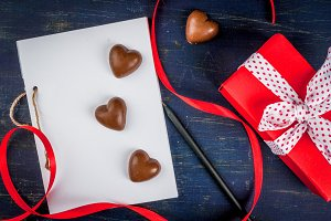 Coffee & candies for Valentines day