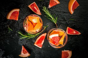 Ingredients for summer cocktail