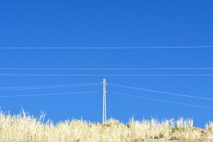 electric cables and tower