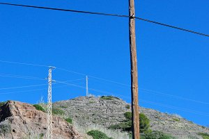 electric cables and towers