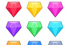 Diamond crystal gems