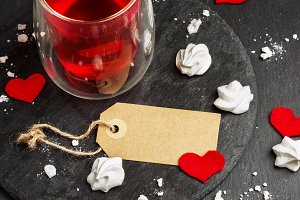 Love and Valentine Day decoration with hearts