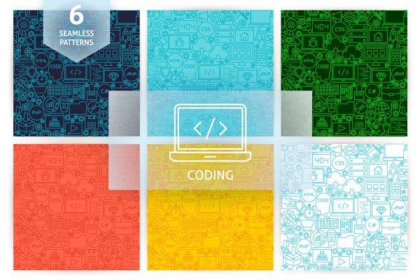 Coding Line Seamless Patterns