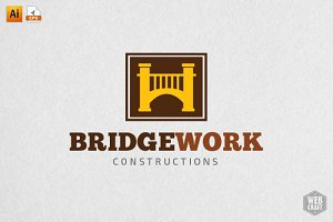 BridgeWork Real Estate Logo Template