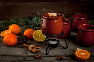 Christmas drink Feuerzangenbowle