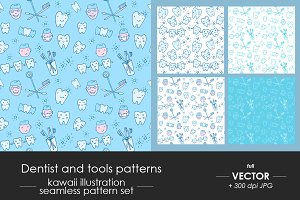 Dentist, dental care pattern set