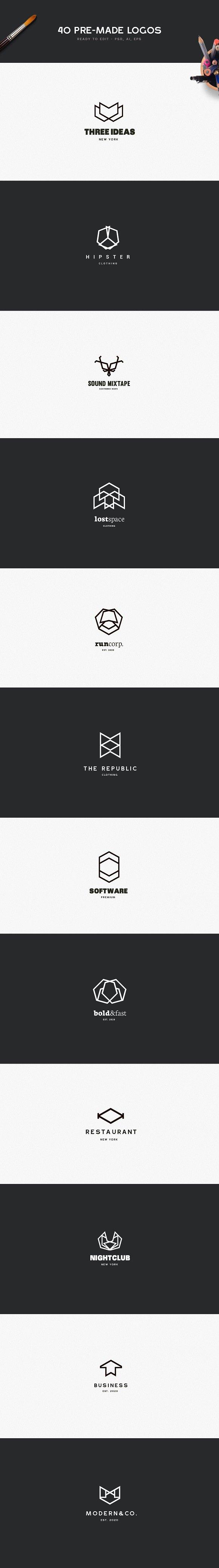 MEGA BUNDLE 1100 Logos & Badges ~ Logo Templates ~ Creative Market