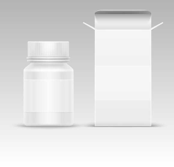 Paper Box And Pill Bottle