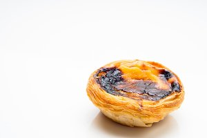 typical Portuguese egg tart pastries