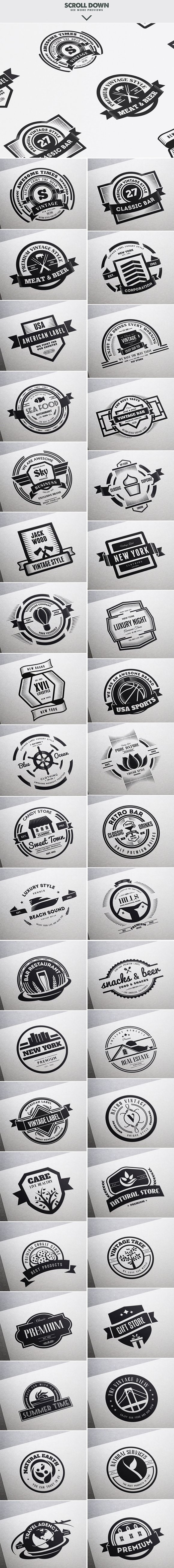 Mega Bundle 1100 Logos Badges Logo Templates Creative Market