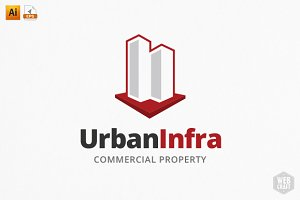 UrbanInfra Real Estate Logo Template