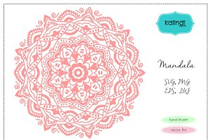 Mandala  hand drawn vector clipart