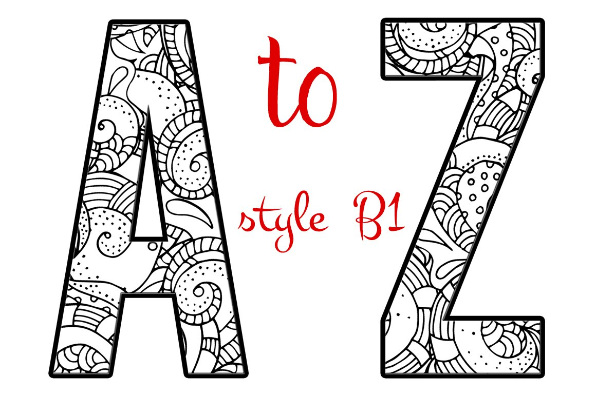 Coloring Letters of the Alphabet B1 ~ Graphic Objects