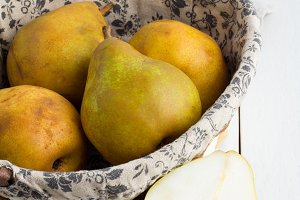 yellow pear close-up