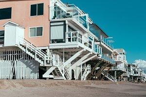 Beach houses in Malibu