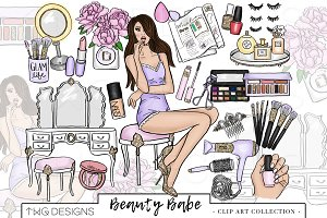 Fashion Girl Beauty Clip Art