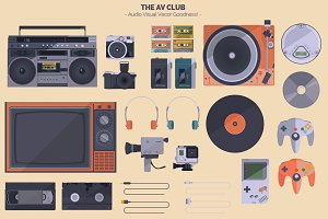 The AV Club - Audio Visual Vectors