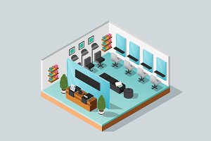 Isometric Illustration Salon