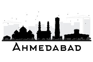 Ahmedabad City skyline silhouette